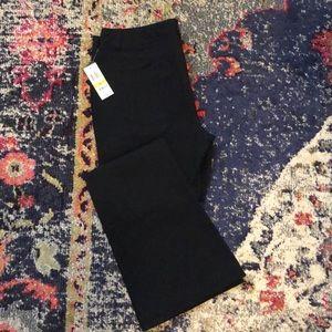 NWT! INC Black Flare Leg Regular Fit Pants